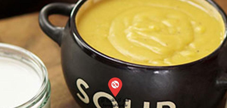 فیلم آموزش سوپ تند سیب زمینی شیرین و شیر نارگیل