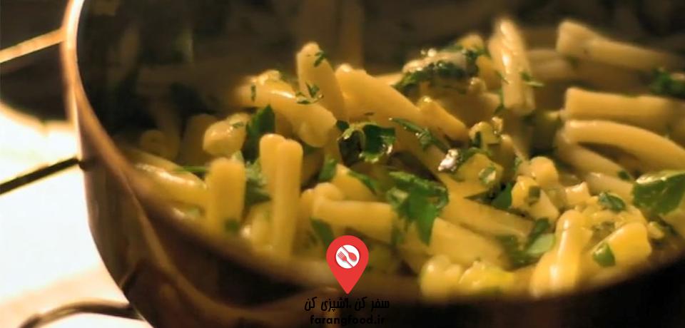 فیلم آموزش خوراک کدو سبز با پاستای کاسارچه