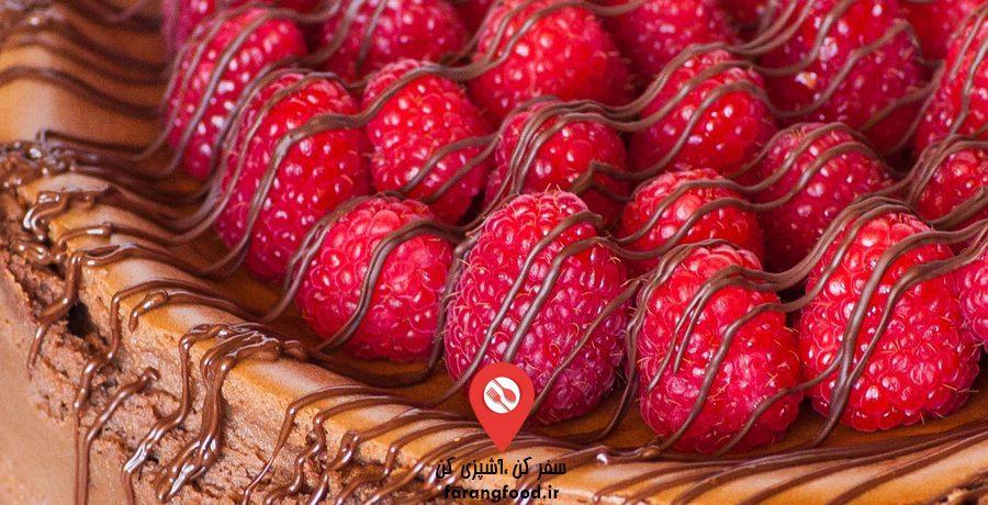 فیلم آموزش چیز کیک کاراملی تمشک شکلات