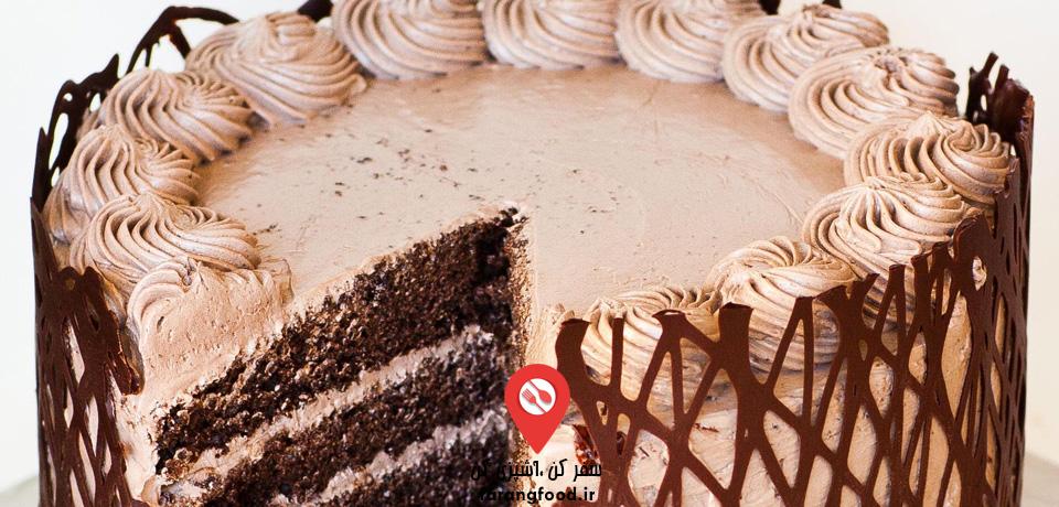 فیلم آموزش کیک 5 لایه شکلاتی