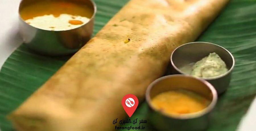 فیلم آموزش پخت نان هندی دوسا با اسفناج