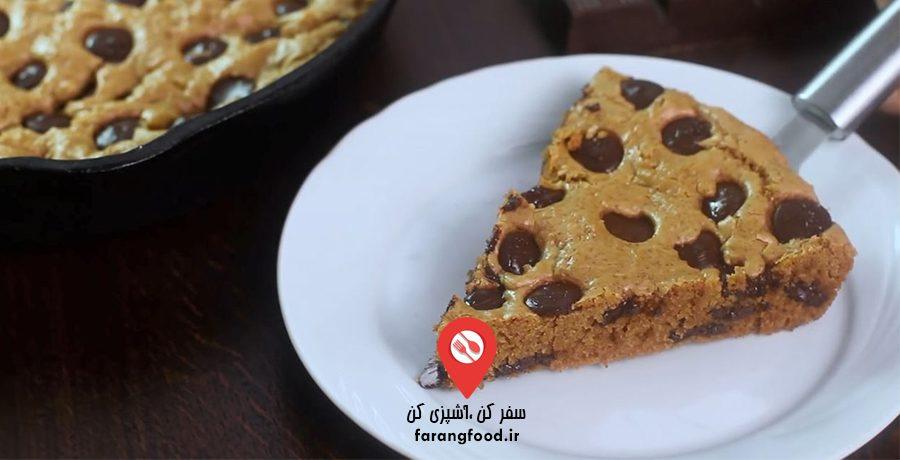 آشپزی خانگی :فیلم آموزش کوکی شکلات چیپسی تابه ای