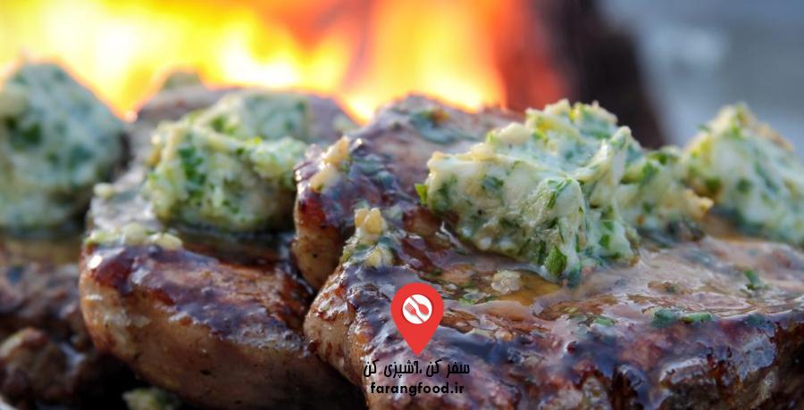آشپزی در طبیعت : فیلم آموزش استیک گوشت