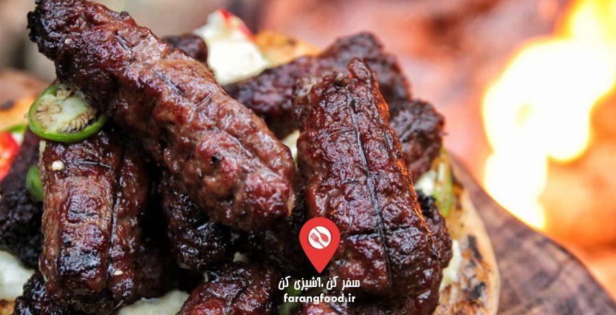 آشپزی در طبیعت : فیلم آموزش کباب غاری با سرشیر