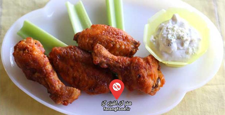 آشپزی ۴ فصل :فیلم آموزش بال مرغ بریانی با سس بلوچیز