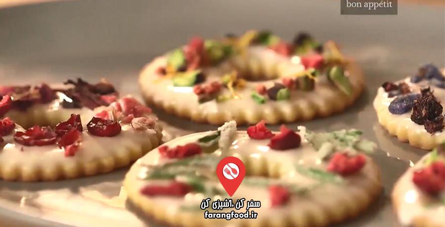 نوش جان :فیلم آموزش شیرینی اسطوخودوس و تزیین آن با مغزیجات ،میوه ،شکلات و گل