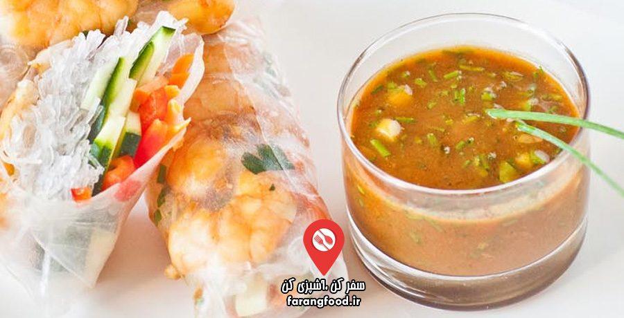 آشپزی با تاتیانا :فیلم آموزش اسپرینگ رول تایلندی میگو با سس بادام زمینی زنجبیل سیر