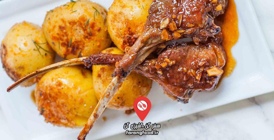 آشپزی با تاتیانا : فیلم آموزش دنده بره لعاب دار با سس سویا و سیب زمینی