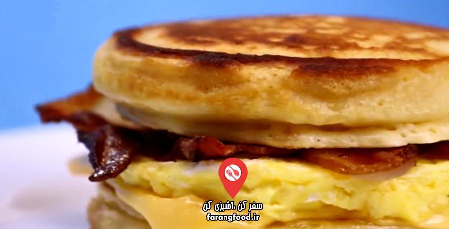 آشپزی ۴ فصل :فیلم آموزش ساندویچ پنکیک مک دونالد (مک کیک)