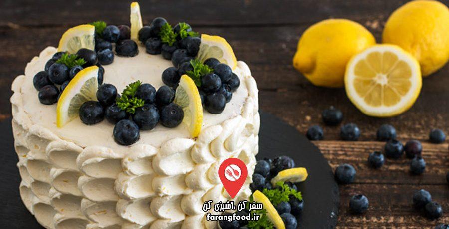 آشپزی خانگی :فیلم آموزش کیک خامه ای بلوبری لیموترش