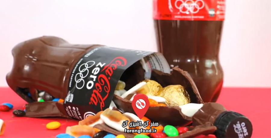 دوست داران کاپ کیک : فیلم آموزش بطری شکلاتی پینیاتا