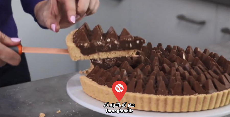 دوست داران کاپ کیک : فیلم آموزش تارت بیسکویتی تابلرون (بدون نیاز به پختن)