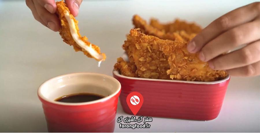 فیلم آموزش ناچو , سینه مرغ سرخ شده مکزیکی