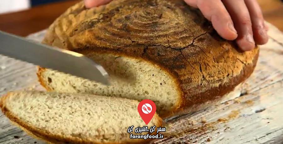 نانوایی پل هالیوود : فیلم آموزش پخت نان ترش سنتی