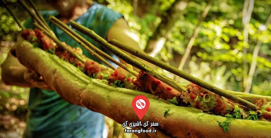 آشپزی در طبیعت : فیلم آموزش ساندویچ هات داگ پنیری غول پیکر