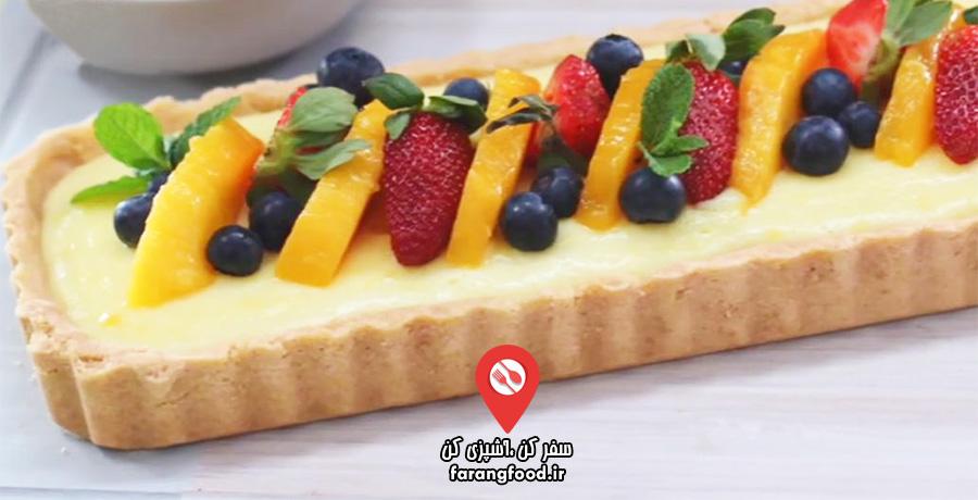دوست داران کاپ کیک : فیلم آموزش کیک میوه ای (تارت میوه ای) بدون نیاز به پختن
