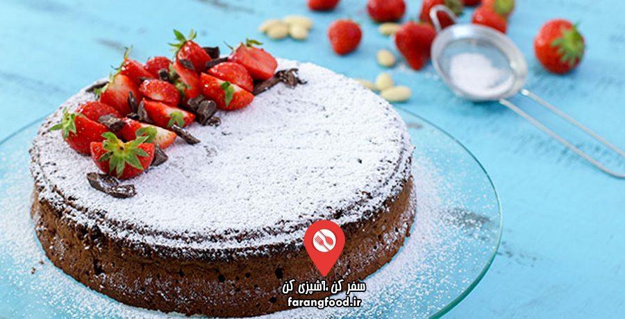 آشپزی خانگی :فیلم آموزش کیک بدون آرد تورتا کاپریس
