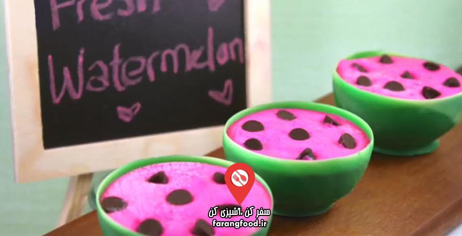 دوست داران کاپ کیک : فیلم آموزش بستنی هندوانه ای کُره ای