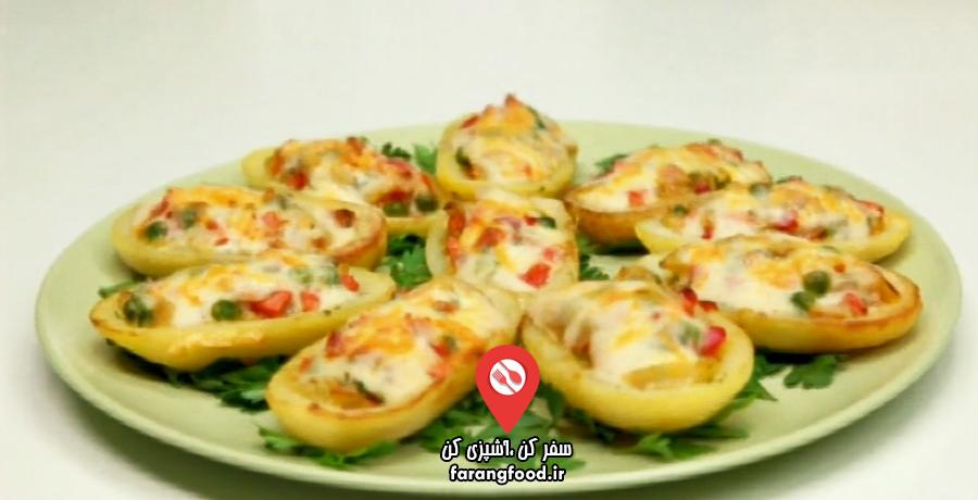 آشپزی به صرفه :فیلم آموزش سیب زمینی شکم پر عربی