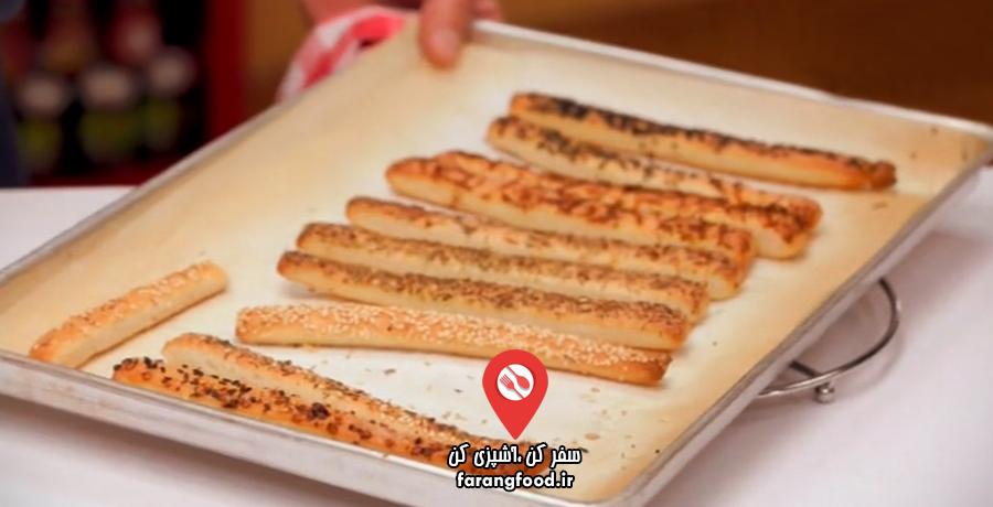 ۱۰۰ ماکارونی : فیلم آموزش پخت نان ایتالیایی گراسینی