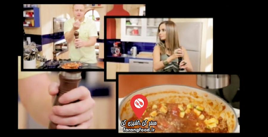آشپزخانه سوا:فیلم آموزش سینی اسفناج با بال مرغ ، خوراک رگو و کیک شکلاتی با موز