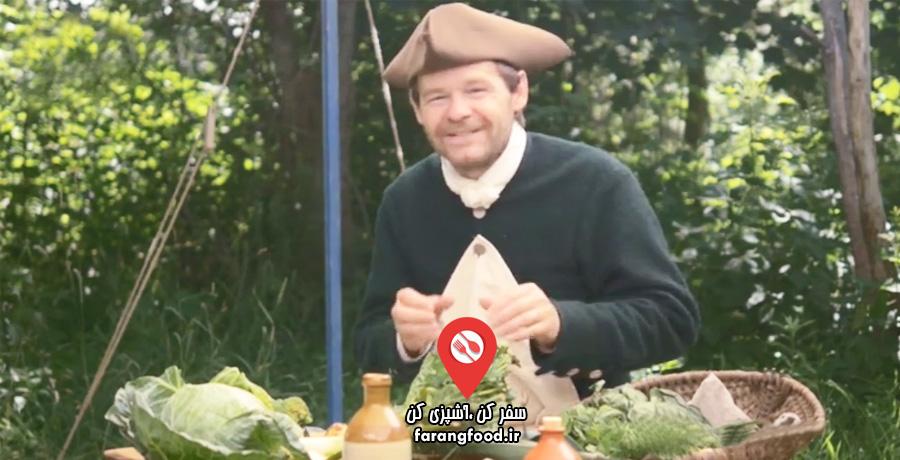 آشپزی قرن هجدهم : فیلم آموزش سالاد فرانسوی مرغ
