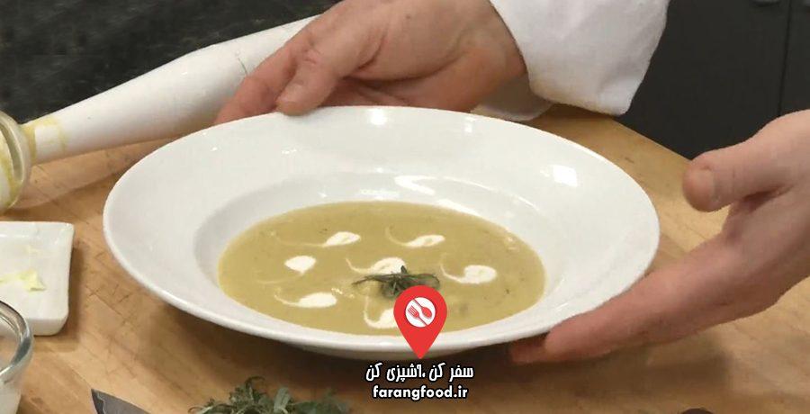 سوپ کدو حلوایی با زنجبیل