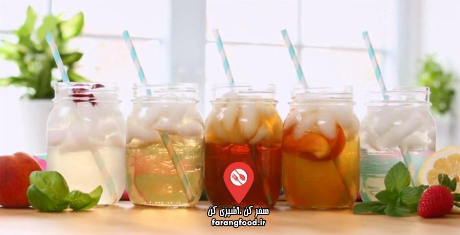 آموزش چای سرد (آیس تی-یخ چای) با ۵ طعم فوق العاده