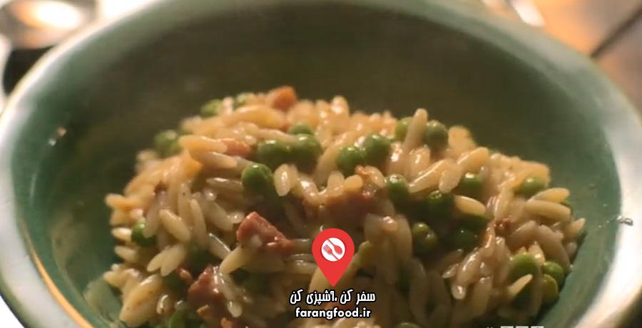 آشپزخانه ایتالیایی نایجلا فیلم آموزش پاستا اورزو با نخود فرنگی و گوشت