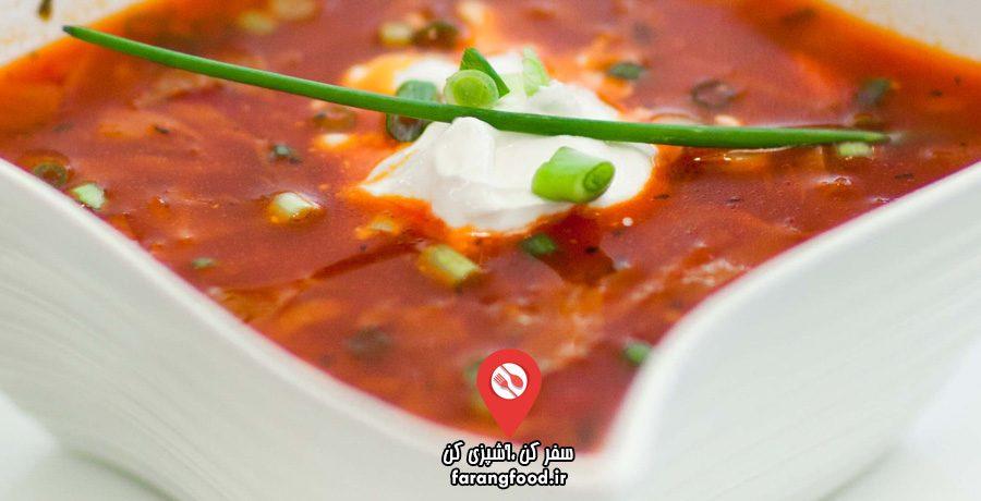 آشپزی با تاتیانا فیلم آموزش سوپ روسی برش (Borscht)