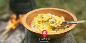 آشپزی قرن هجدهم فیلم آموزش ساکاتاش , خوراک ذرت با گوشت (Succotash)