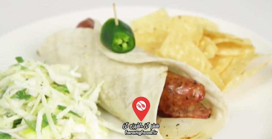 آشپزی ۴ فصل فیلم آموزش ساندویچ سوسیس تگزاسی (2)