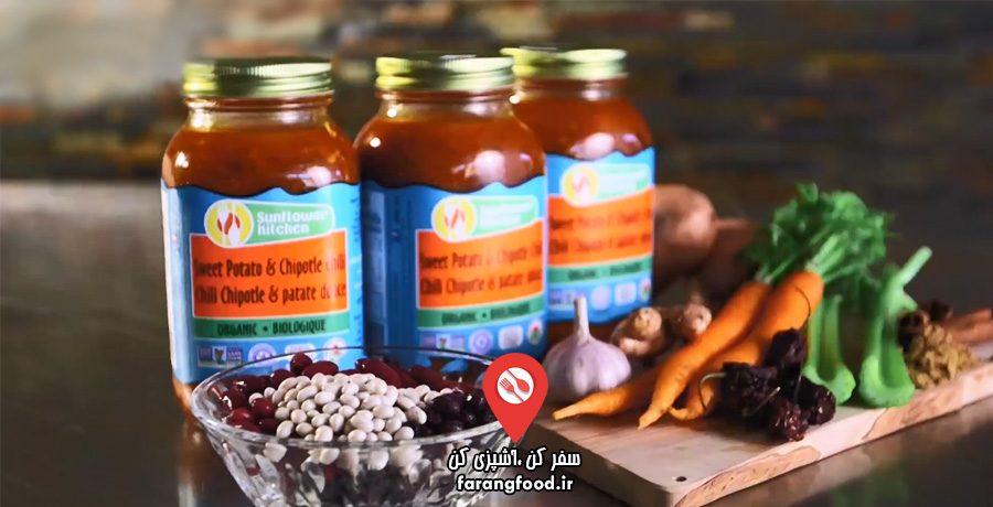 اسرار خوراکی ها فیلم آموزش پوره چیلی سیب زمینی و لوبیا با سبزیجات ارگانیک
