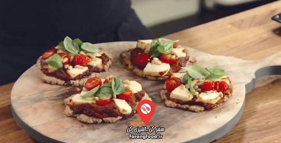 عصاره با جیسون فیلم آموزش پیتزا رژیمی سبزیجات بدون خمیر