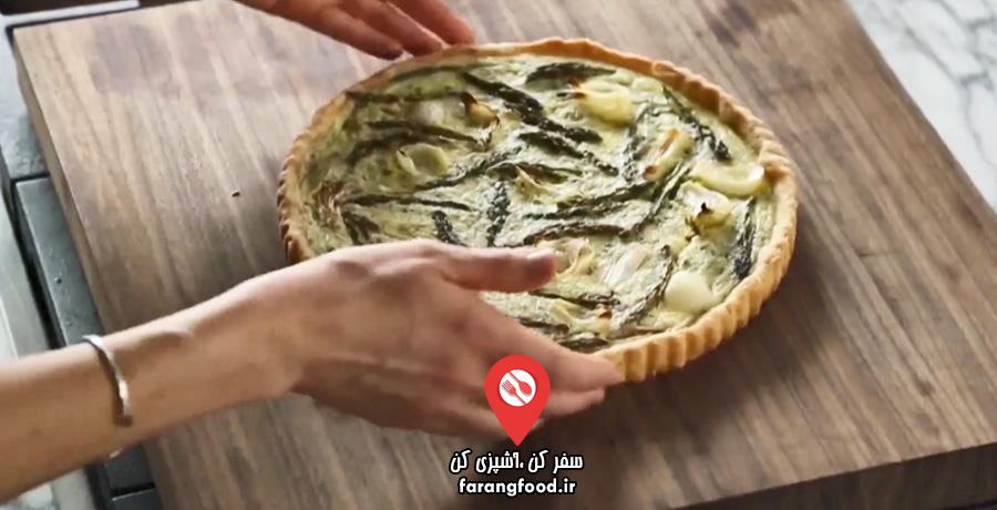 نوش جان فیلم آموزش تارت سبزیجات بهاری با پنیر ترش