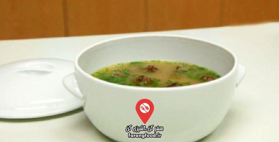 آشپزی به صرفه فیلم آموزش سوپ برنج و کوفته عربی