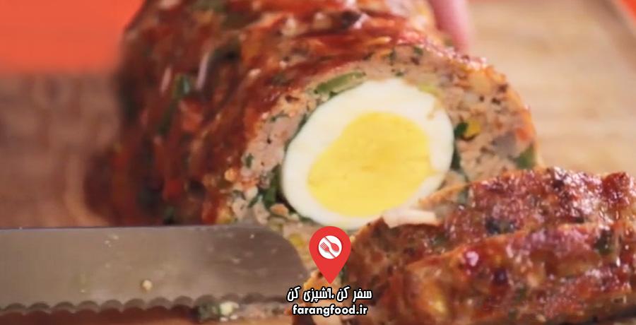 آشپزی ۴ فصل فیلم آموزش صبحانه با رولت گوشت و تخم مرغ