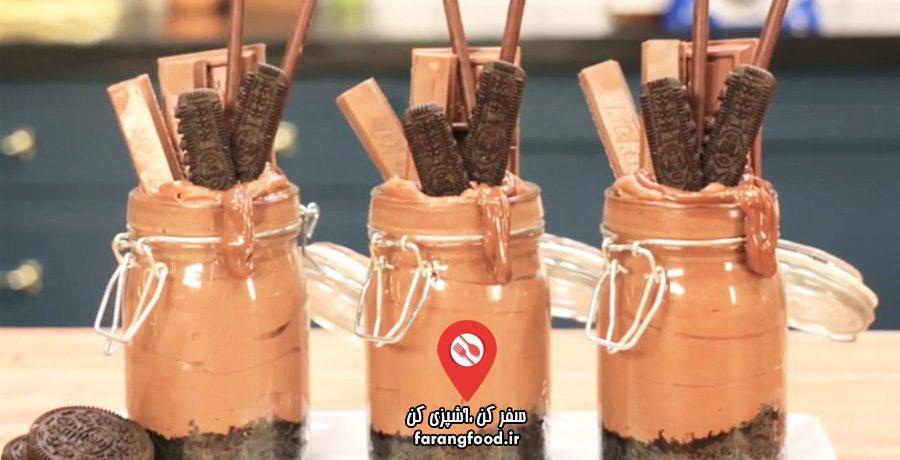 دوست داران کاپ کیک فیلم آموزش چیز کیک با نوتلا و بیسکویت اوریو