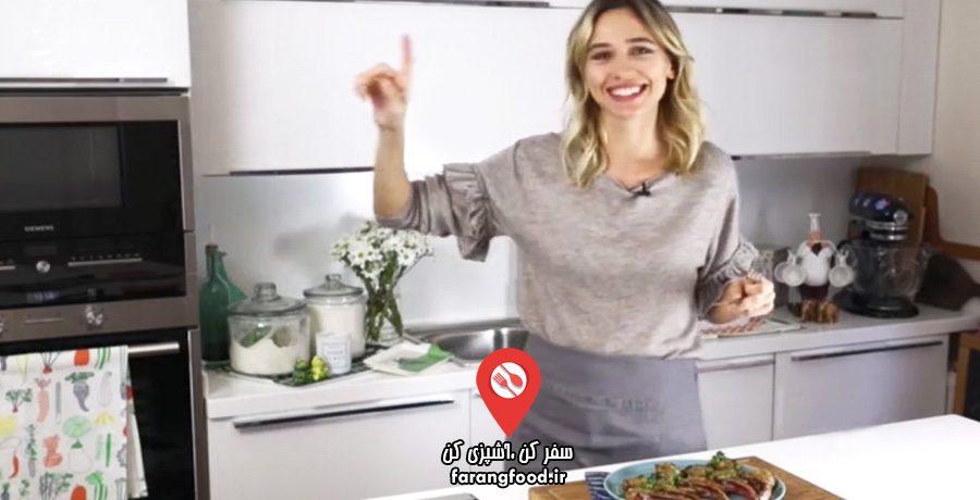 لوکانتا فیلم آموزش خوراک دنده بره ترکی با سس لیمو ارده