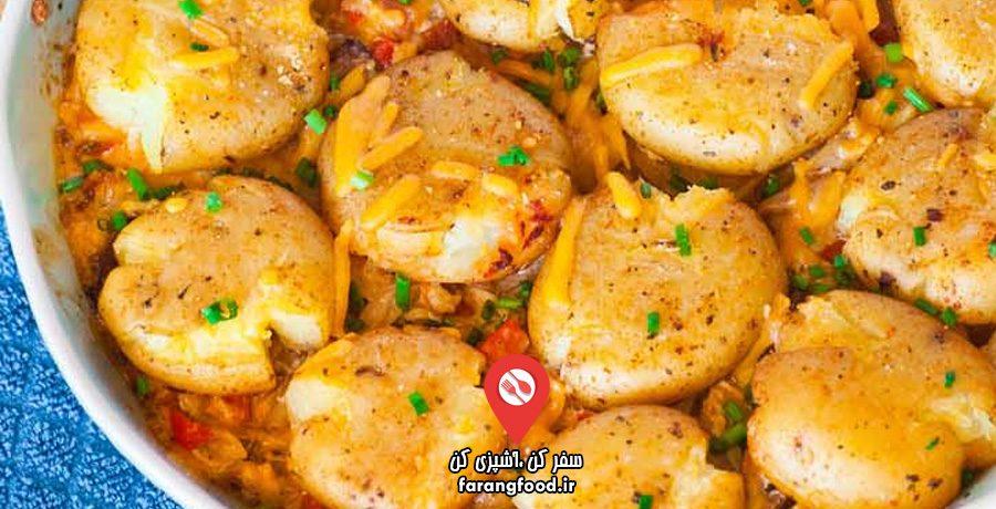 آشپزی با تاتیانا فیلم آموزش کاسرول مرغ بریان با سیب زمینی و بیکن