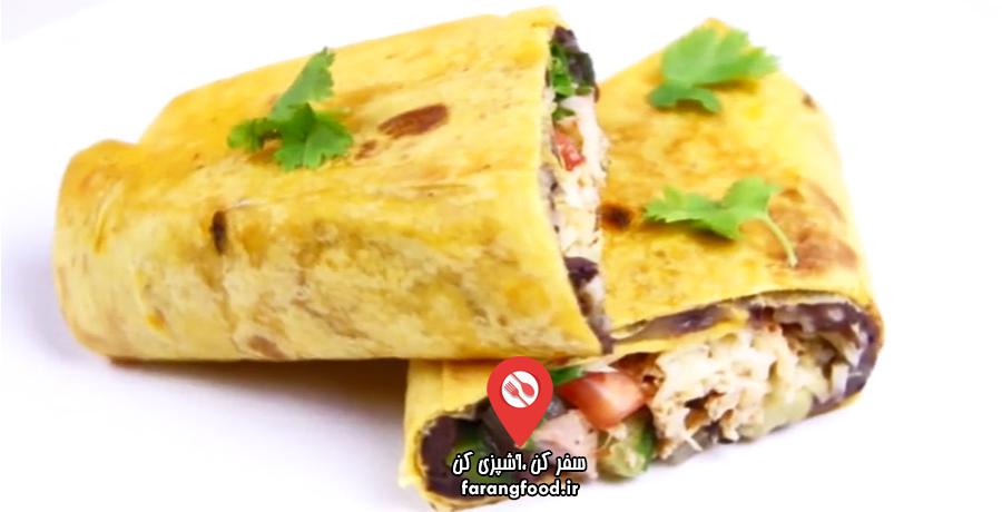 آشپزی ۴ فصل فیلم آموزش بوریتو پنیری با مرغ و سبزیجات