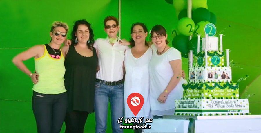 فرشتگان کیک چارلی فیلم آموزش کیک بزرگ 5 طبقه و 17 تکه مناسبتی