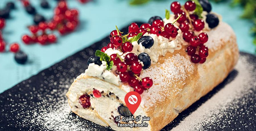 آشپزی خانگی فیلم آموزش کیک مرنگ رول تابستانی