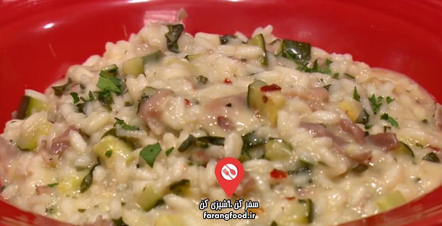 آشپزی با نیک فیلم آموزش پخت ایتالیایی برنج با کدو , پنیر بز و پروشوتو