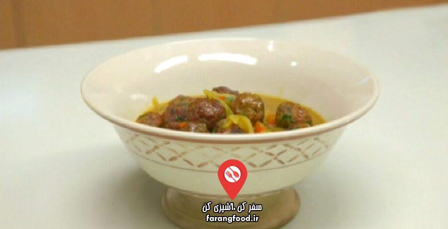 آشپزی به صرفه فیلم آموزش خوراک کوفته عربی با کاری