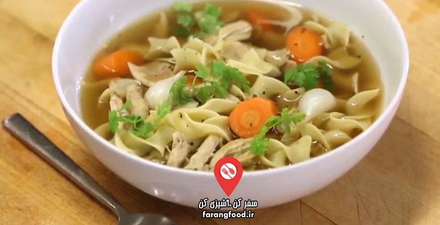 نوش جان فیلم آموزش سوپ نودل مرغ با سبزیجات
