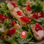 آشپزی با نیک : فیلم آموزش خوراک ایتالیایی گوجه فرنگی سبز با پنیر و ریحان