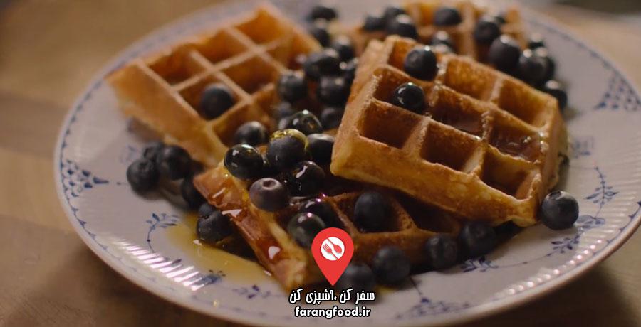 آشپزی در خانه با نایجلا فیلم آموزش پخت نان وافل خانگی