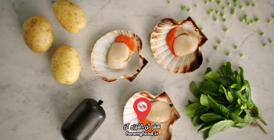 غذای سریع و آسان جیمی فیلم آموزش صدف سرخ شده با پوره سیب زمینی