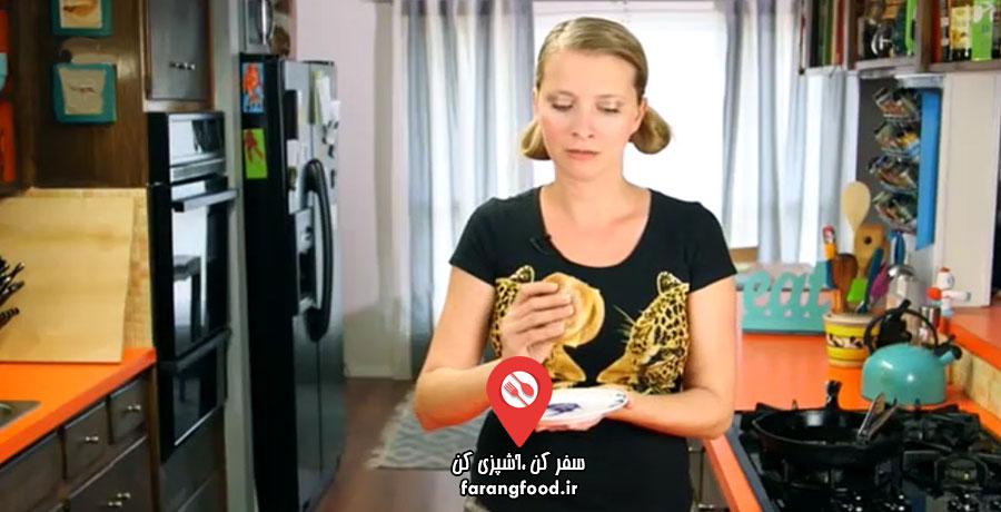 آشپزی ۴ فصل فیلم آموزش ساندویچ فیله ماهی برگر مک دونالد
